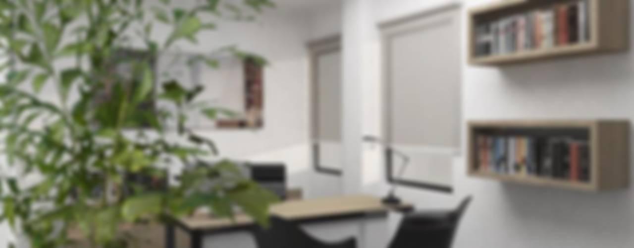Proyecto de oficina Estudios y despachos modernos de Heftye Arquitectura Moderno