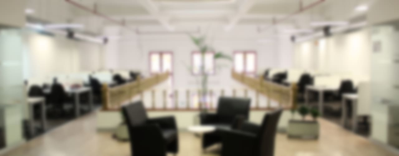 Oficinas Everis Miro Quesada: Oficinas y Tiendas de estilo  por Soluciones Técnicas y de Arquitectura