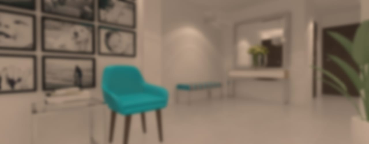 SALA - COMEDOR * FAM VARGAS: Salas / recibidores de estilo  por Giovanna Solano - DLuxy Muebles Design