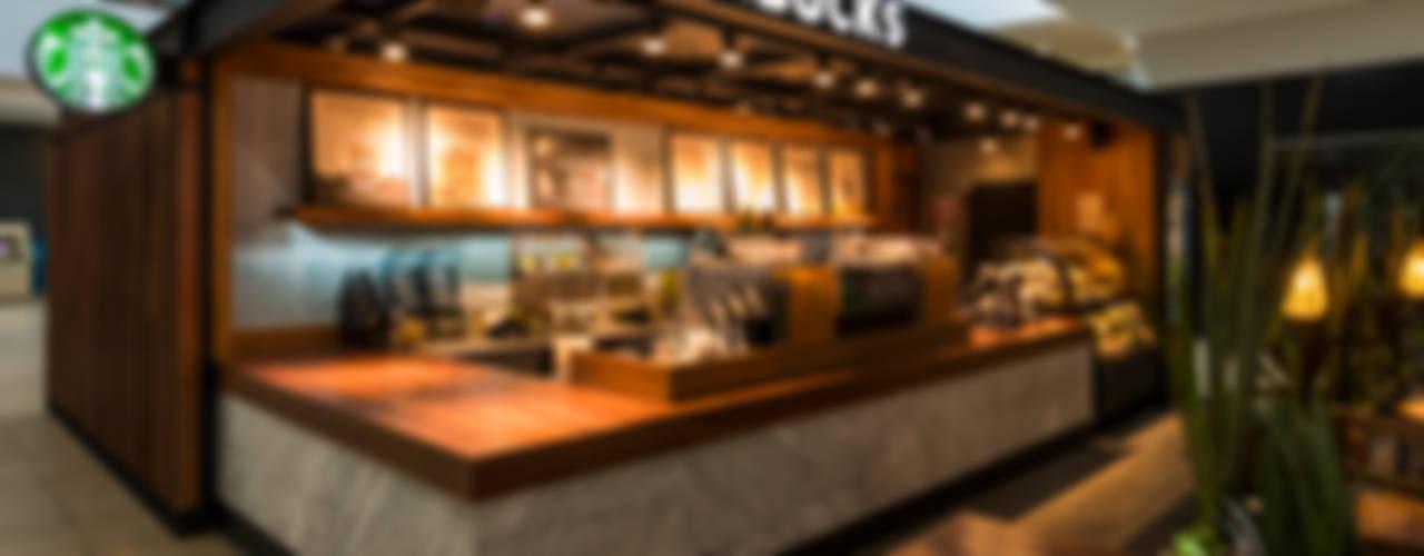 Starbucks Andares Espacios comerciales de estilo moderno de René Flores Photography Moderno