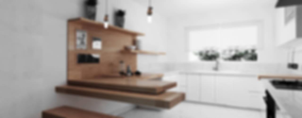 Cocina - Mesa flotante de madera : Cocinas de estilo  por GA Experimental