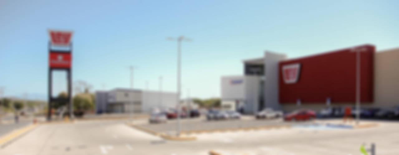 Plaza Pabellón Culiacan: Centros Comerciales de estilo  por Helicoide Estudio de Arquitectura