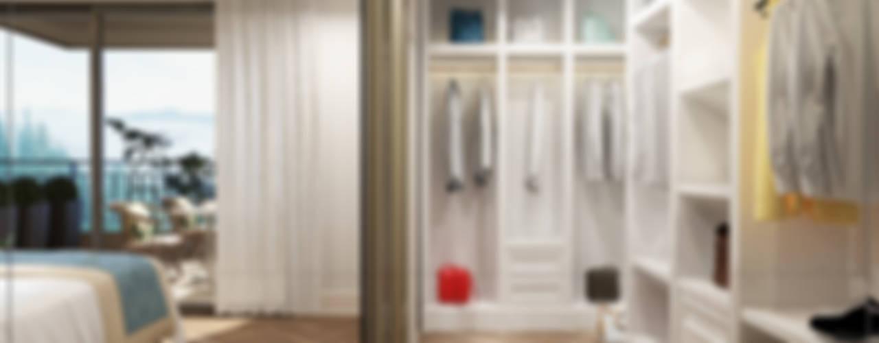 P.Korkmaz Villası Modern Giyinme Odası avangard mimarlık Modern