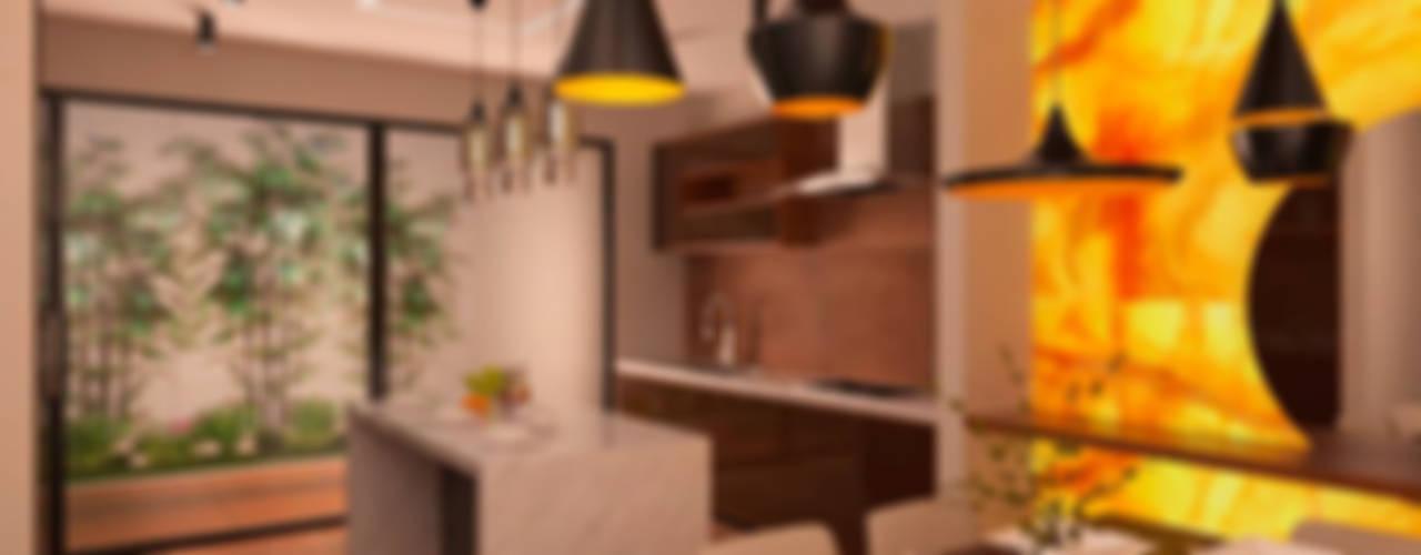 EB 54 Casa Habitación : Comedores de estilo  por Proyecto 3Catorce,