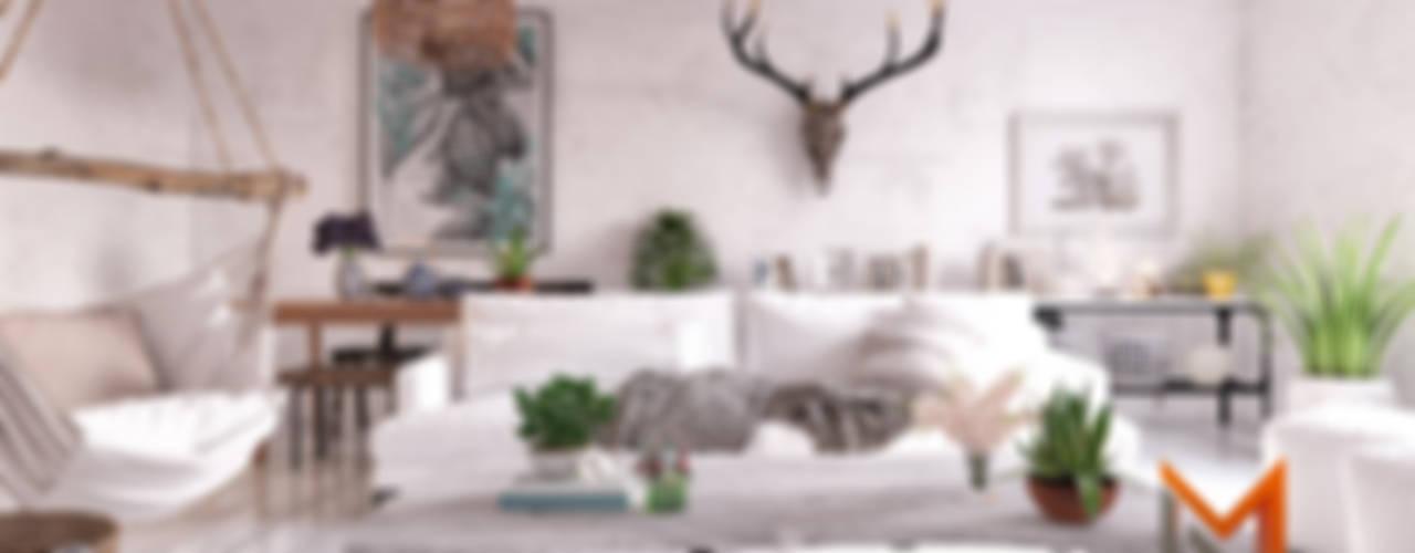 Scandinavian İskandinav Oturma Odası Magic Mimarlık İskandinav