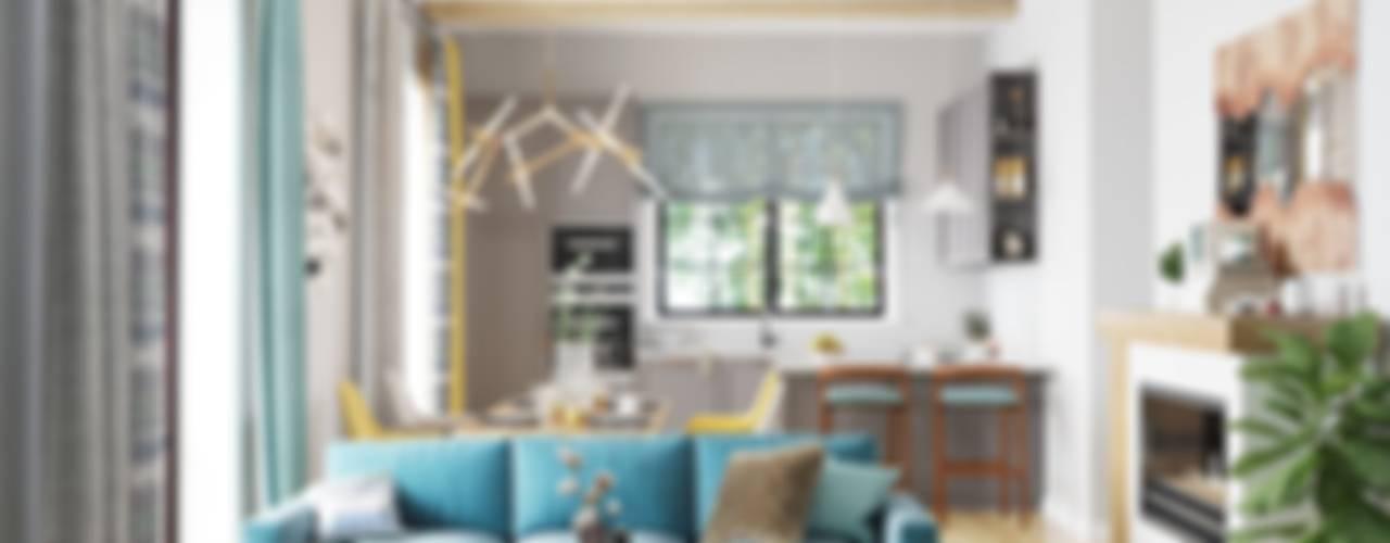 Дизайн гостиной с элементами кантри Гостиная в стиле кантри от Компания архитекторов Латышевых 'Мечты сбываются' Кантри