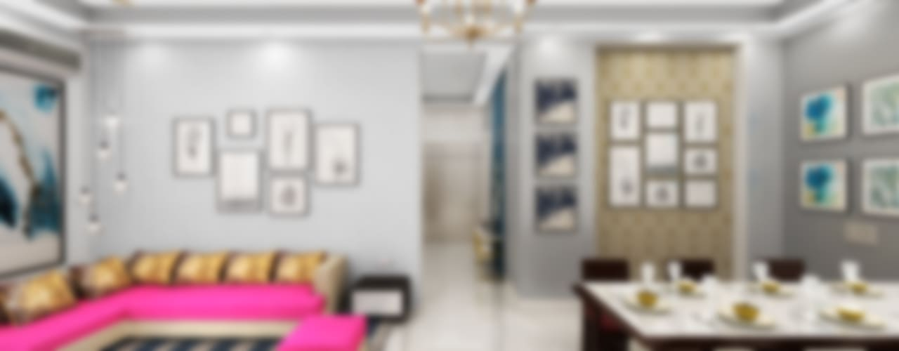 Stunning Interior Design 4 BHK Apartment in Gurgaon by Designers Gang