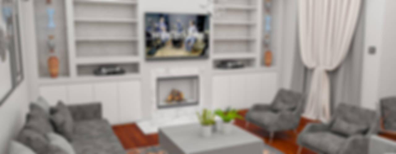 Ortaköy Konut Projesi Minimalist Oturma Odası NEG ATÖLYE İÇ MİMARLIK Minimalist