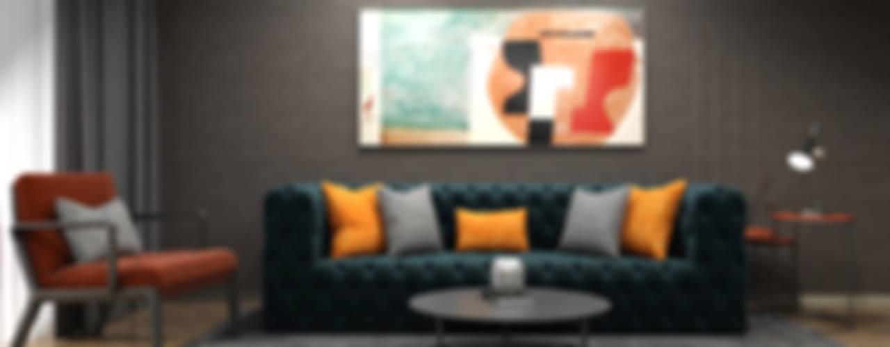 A. S. EVİ OTURMA ODASI İNCİ YANARDAĞ İÇMİMARLIK Modern Oturma Odası