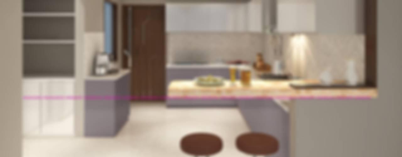 Residential Interior Work Modern kitchen by Monoceros Interarch Solutions Modern