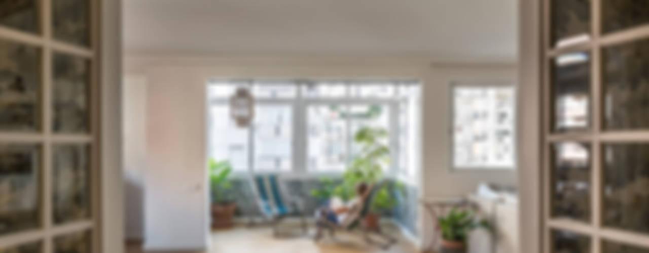 Home in Ciudad Universitaria tambori arquitectes Modern living room Blue