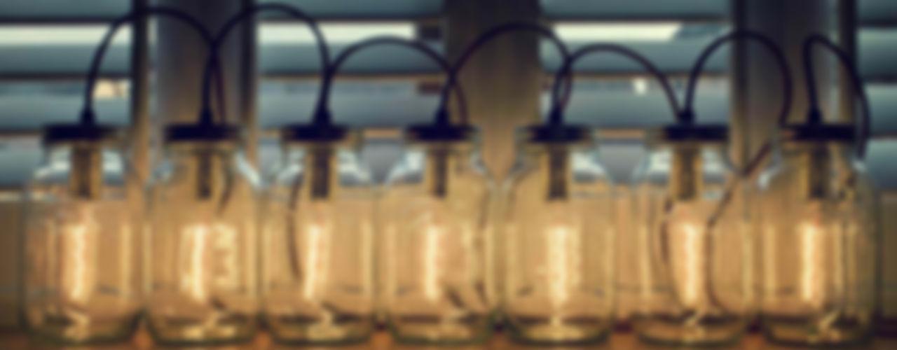 Jam Jar Lights @ LimeLace.co.uk Lime Lace Eclectic Interiors Salas/RecibidoresIluminación
