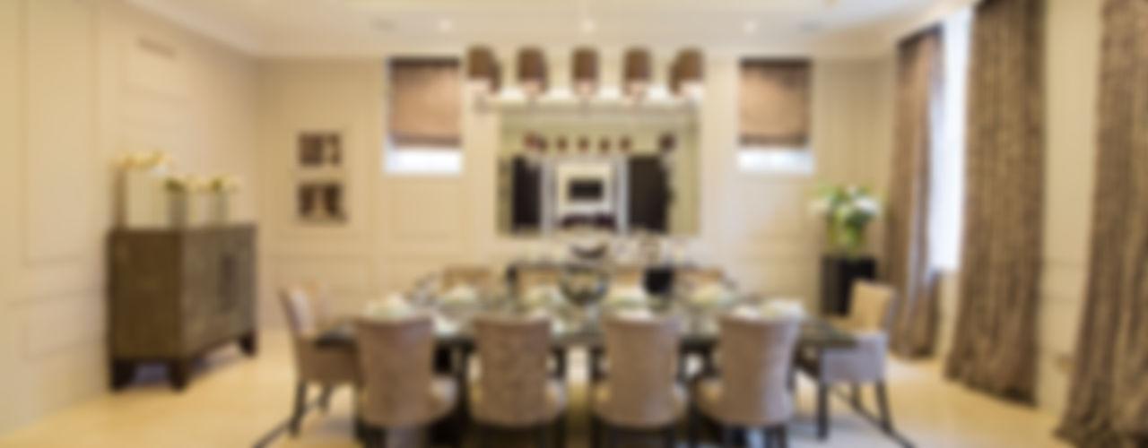 Fairways at the Bishops Avenue Celia Sawyer Luxury Interiors Comedores de estilo moderno