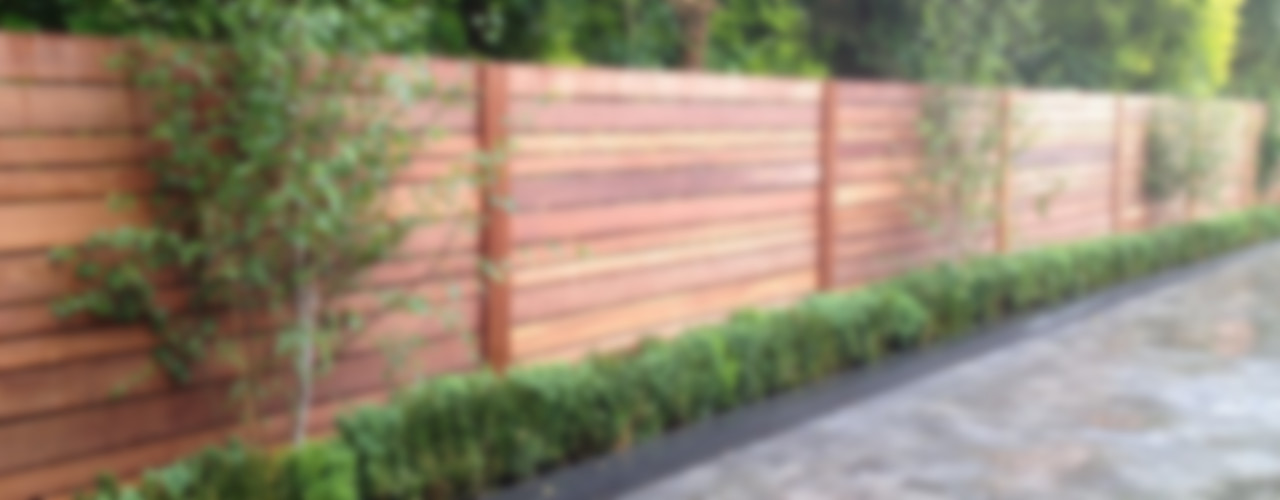 Contemporary screening , fencing & wall panels Paul Newman Landscapes Jardines modernos