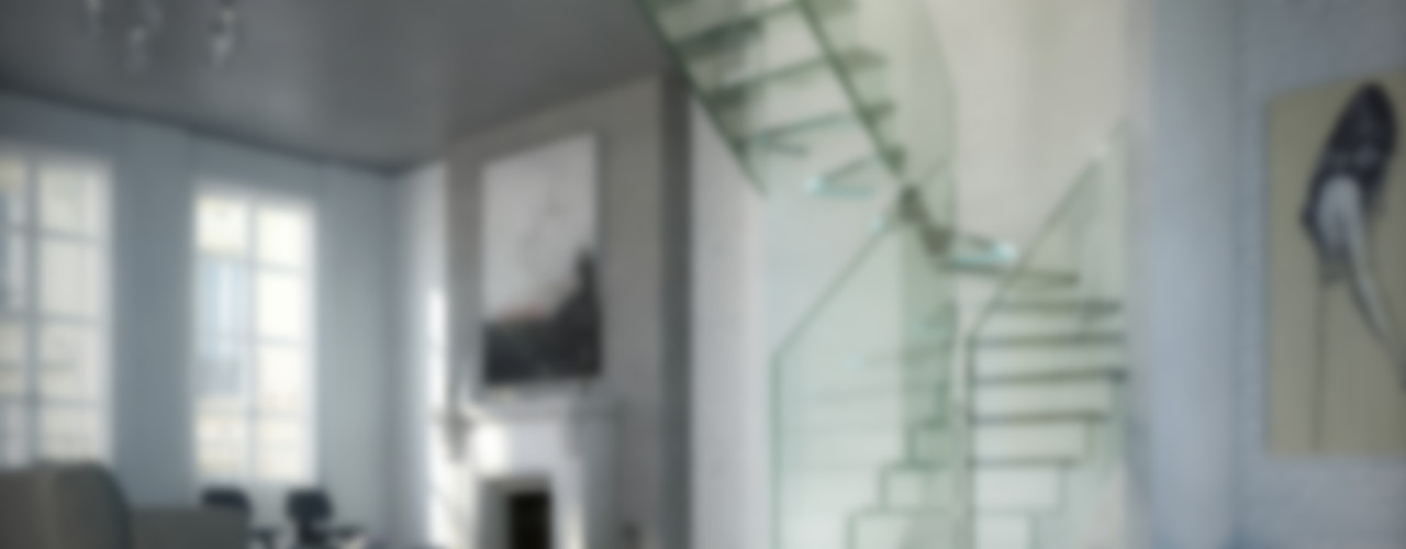 Innovations with glass - the staircase model LONDRA Siller Treppen/Stairs/Scale Escaleras Vidrio Transparente