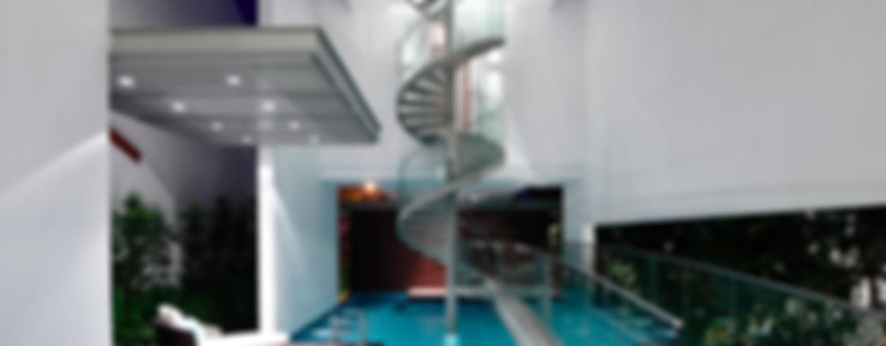Bridge Over Water HYLA Architects Modern pool
