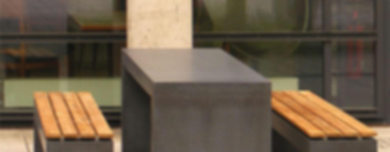 Betonbank Betontisch oggi-beton Balkon, Veranda & TerrasseMöbel Beton