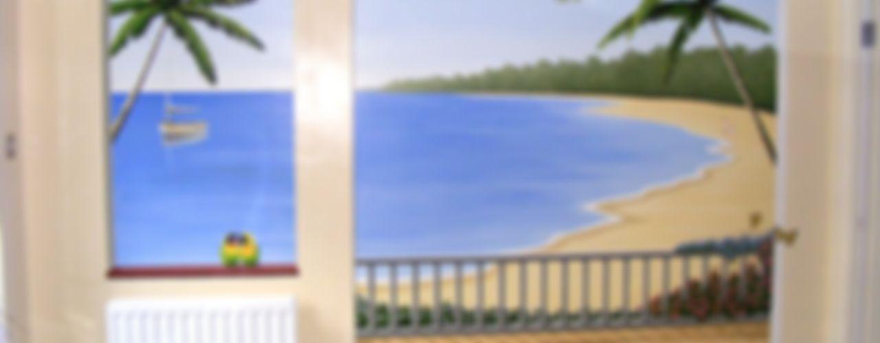 Tropical paradise mural Marvellous Murals Paredes y pisos mediterráneos