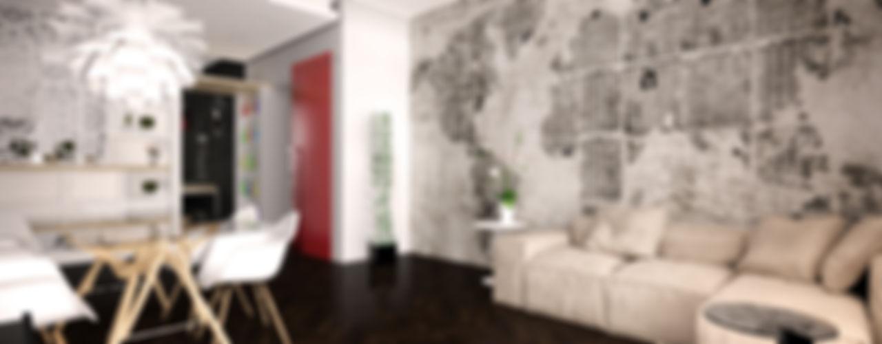 Ristrutturazione appartamento Graziella Fittipaldi Architetto Soggiorno minimalista