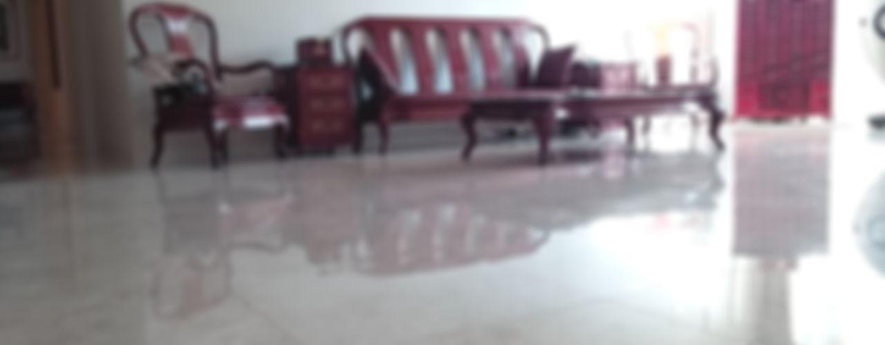 신개념 대리석마루 뉴이지스톤 델리카토크림을 이용한 서울 압구정동 중앙하이츠빌 아파트 리모델링 (주)이지테크(EASYTECH Inc.) 클래식스타일 거실