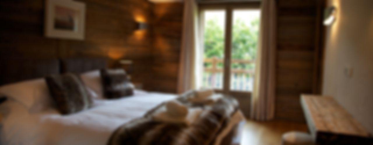Chalet Chardon: conception, architecte d'intérieur et de liaison du client pour un nouveau chalet de ski de luxe shep&kyles design Chambre rurale
