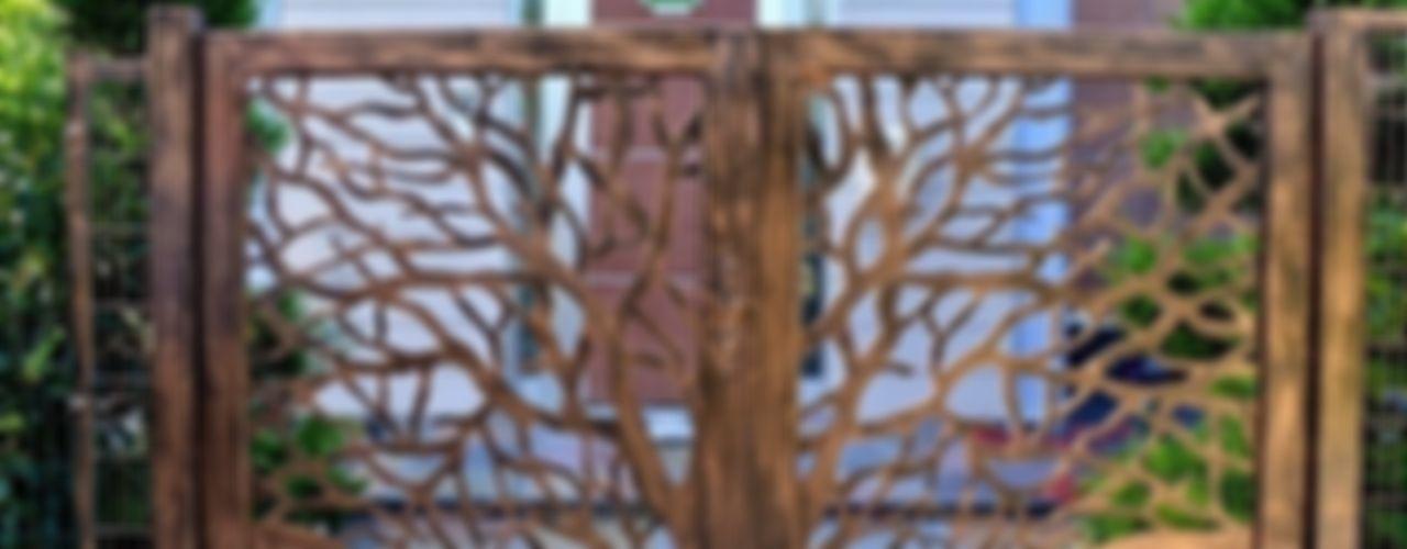 Ferforje Bahçe Kapıları Teknik Metal Ferforje Modern Bahçe