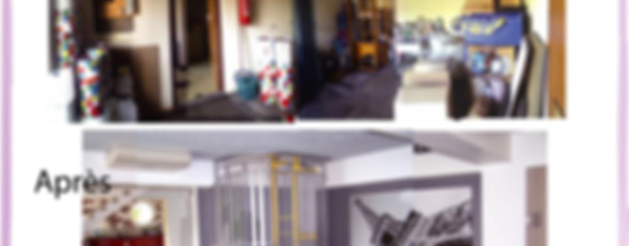 LOFT X-ACT DESIGN Couloir, entrée, escaliers industriels