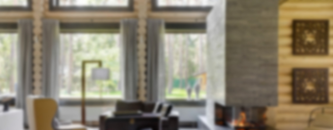 Lavka-design дизайн бюро Rustic style living room