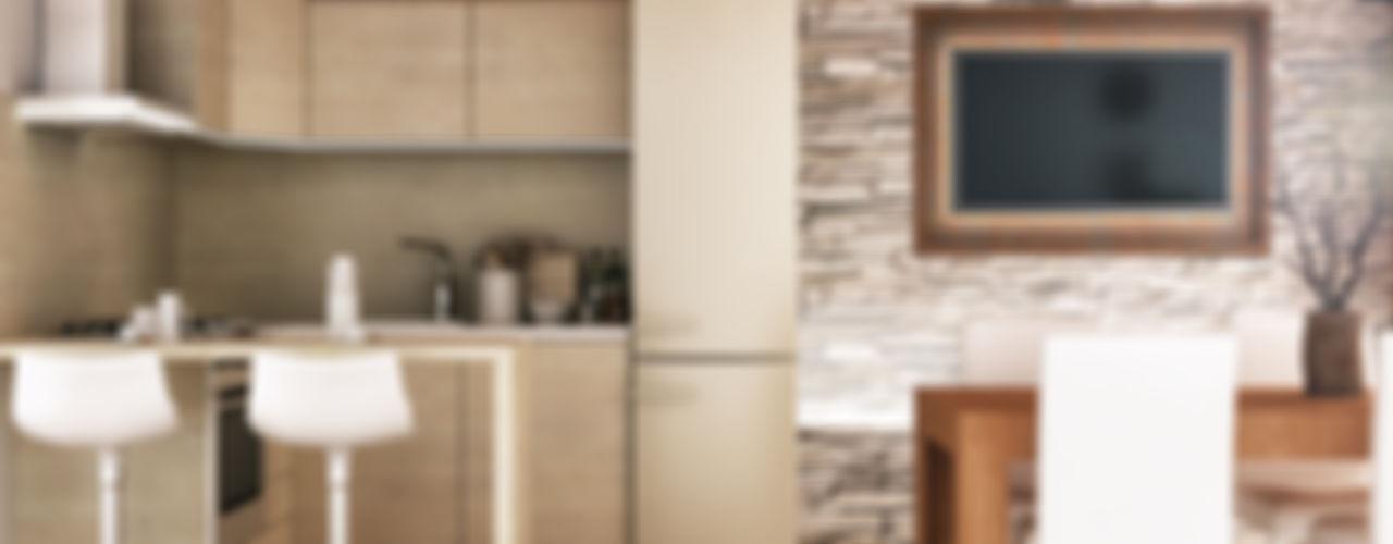 Architetto Luigia Pace Cocinas de estilo rústico Madera Marrón