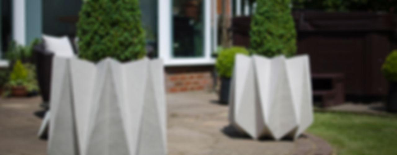 Kronen 65 Large Concrete Planter Adam Christopher Design Garden Plant pots & vases Concrete Grey