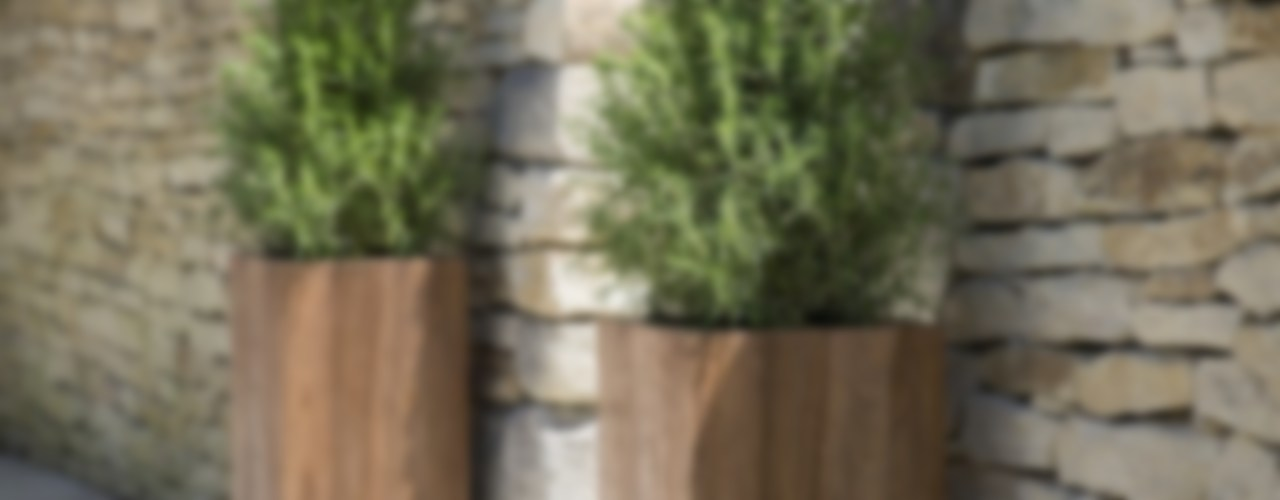 Teak Garden Planters , Cubes or Tall Squares Ingarden Ltd Garden Plant pots & vases