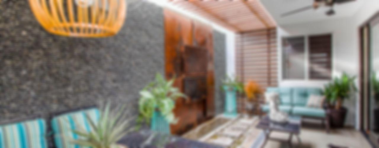 SZTUKA Laboratorio Creativo de Arquitectura 庭院 木頭 Wood effect