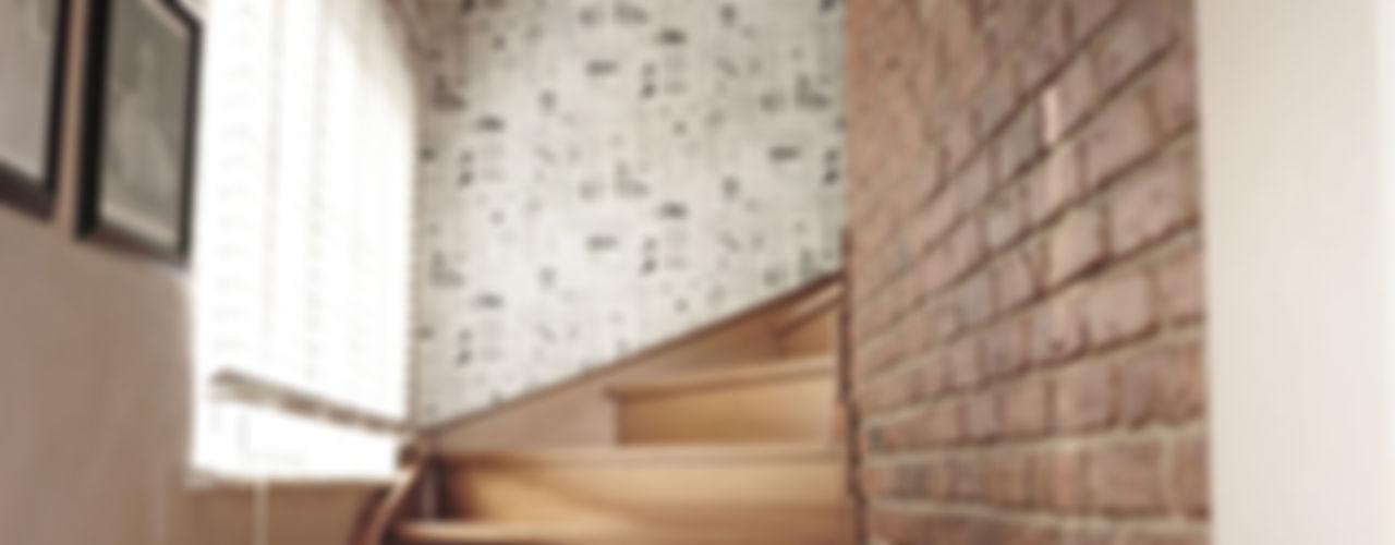 Didem & Serkan Ozbakan Bilgece Tasarım Modern Koridor, Hol & Merdivenler