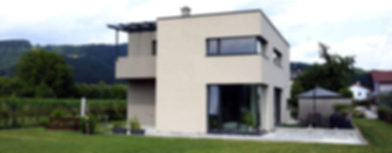 Einfamiliehaus S up2 Architekten Moderner Garten Ziegel Braun