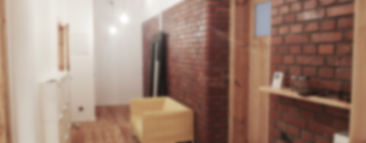 NaNovo Ingresso, Corridoio & Scale in stile eclettico Laterizio Variopinto