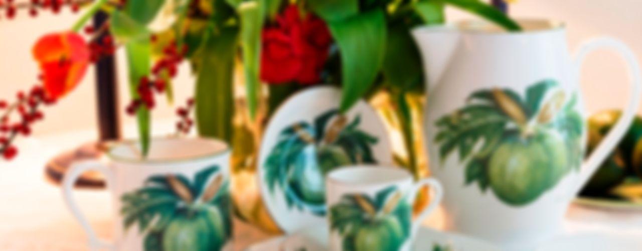 Breadfruit fine bone china collection Jenny Mein Designs EsszimmerGeschirr und Gläser Keramik Grün