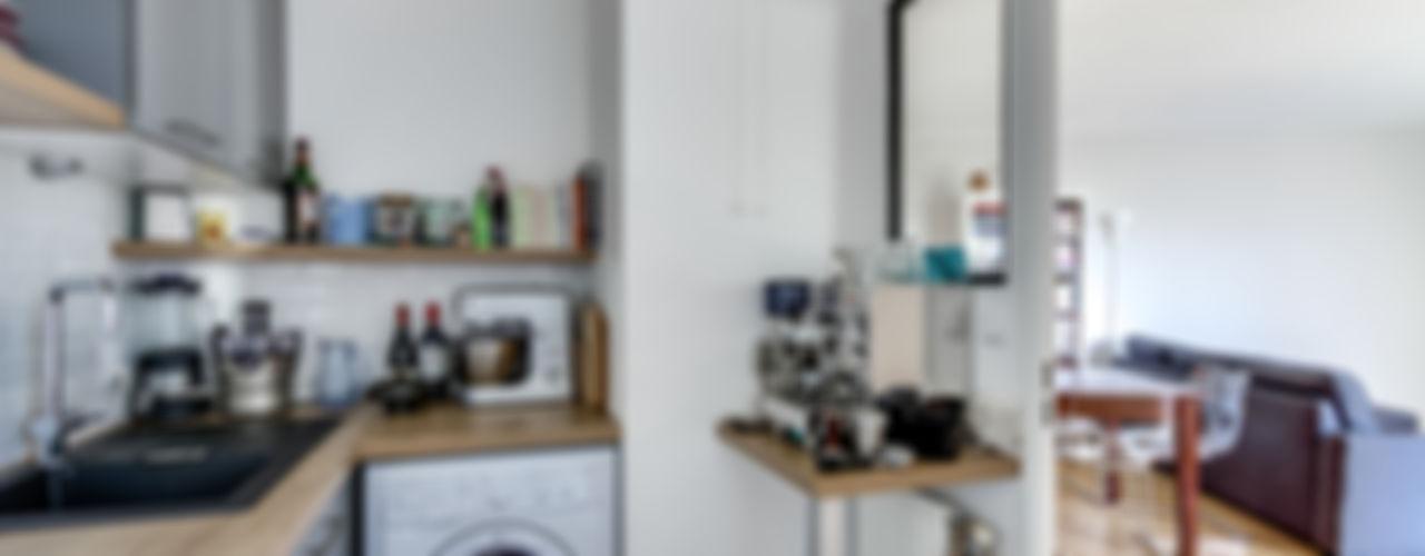 Appartement moderne à Clichy Decorexpat Cuisine moderne Gris
