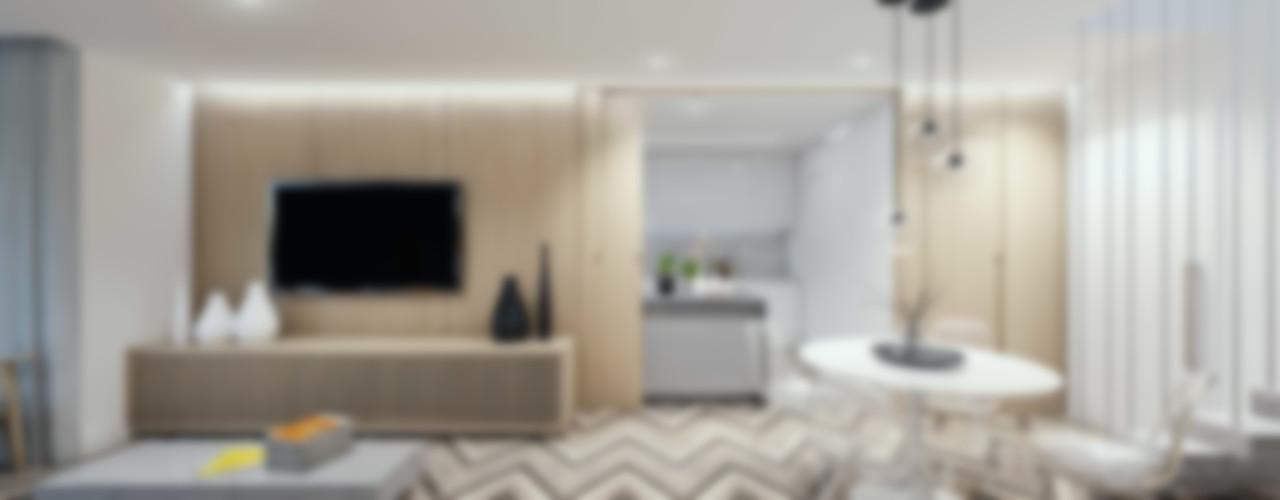 Cobertura Freguesia fpr Studio Salas de estar escandinavas Branco