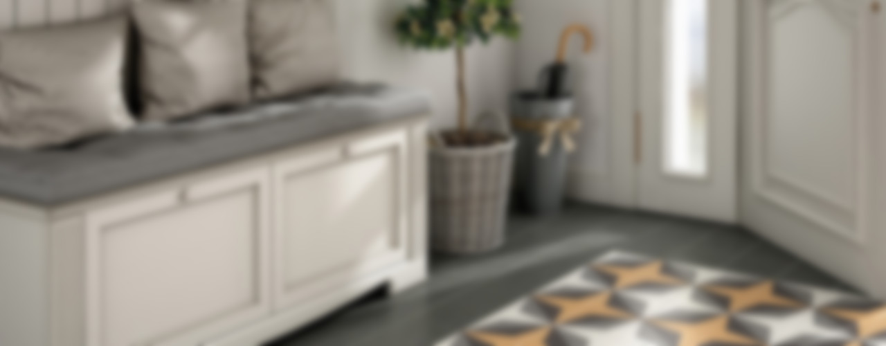 Equipe Ceramicas Colonial style corridor, hallway& stairs