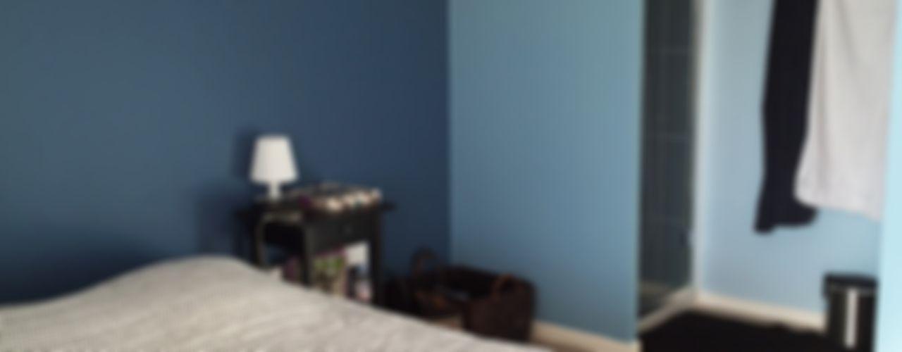 Agencement & Couleurs d'un appartement à Balma Mint Design Chambre classique Bleu