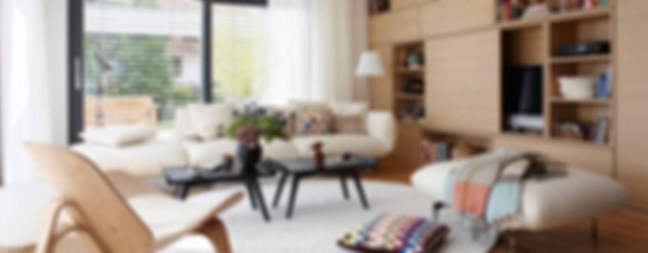SchwörerHaus Modern Living Room Wood effect