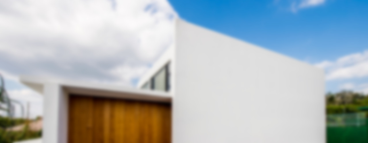 門一級建築士事務所 Moderne Häuser Holz Weiß