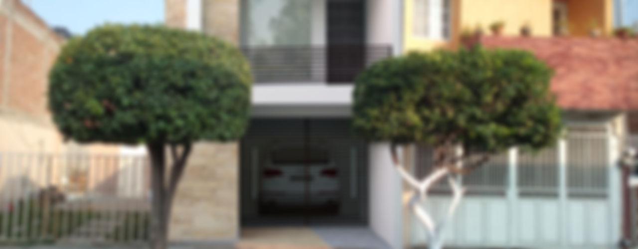 Casa ESQUI Perspectiva Arquitectos México Casas modernas Concreto Blanco