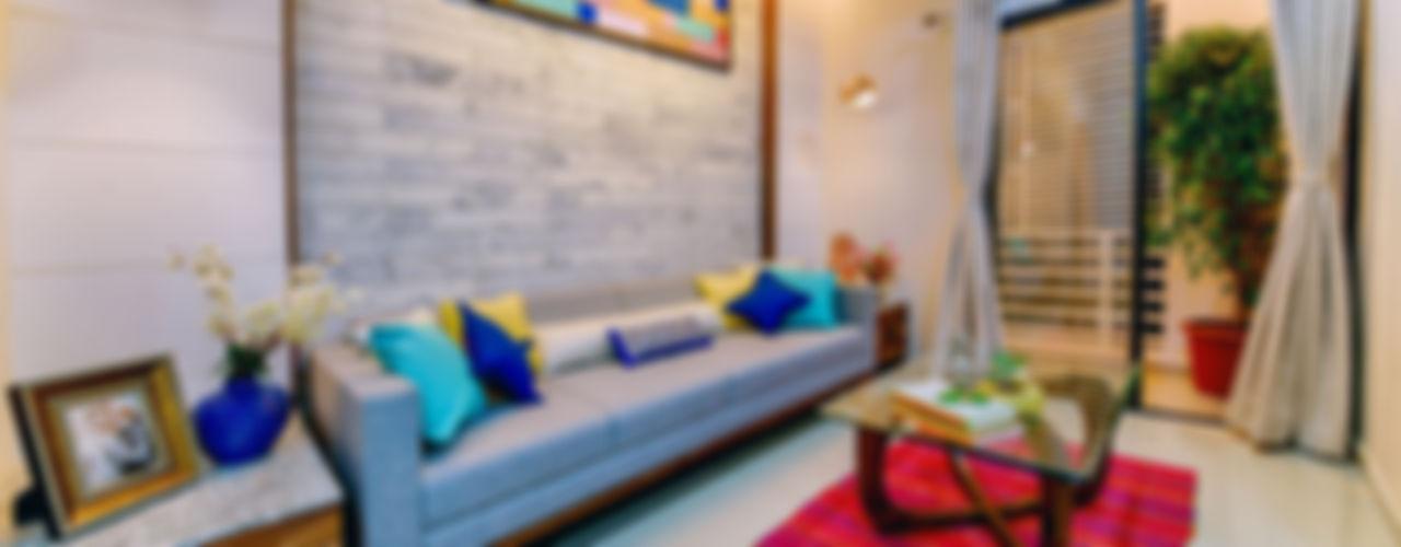 Saar Interior Design Salas de estar ecléticas Multi colorido