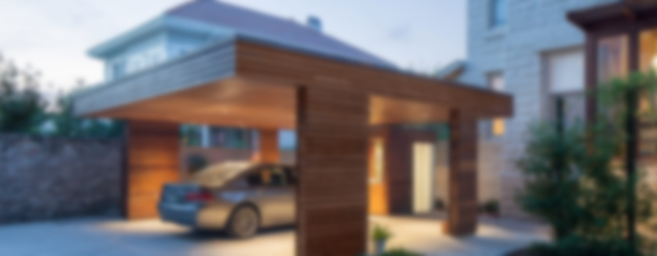 City Park Residence + Carport, New Orleans studioWTA Modern Garage and Shed