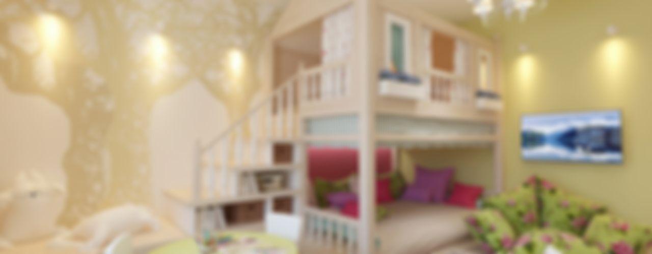 Дизайн-проект четырехкомнатной квартиры 140 кв. м в современном стиле Студия интерьера Дениса Серова Детская комната в стиле модерн