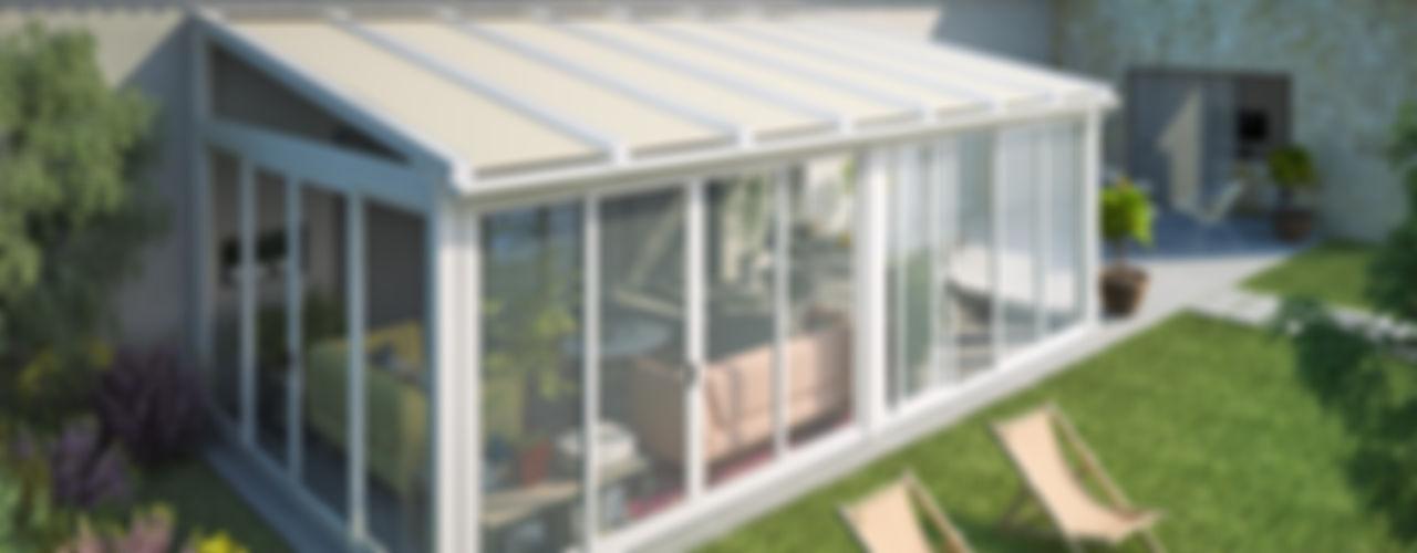 Giulio Barbieri S.r.l. Minimalistyczny ogród zimowy Aluminium/Cynk