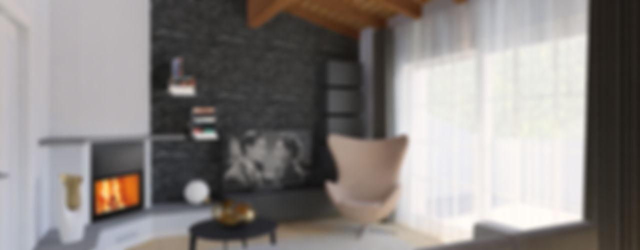 rinnovare un soggiorno in stile moderno Flavia Benigni Architetto Soggiorno moderno Grigio