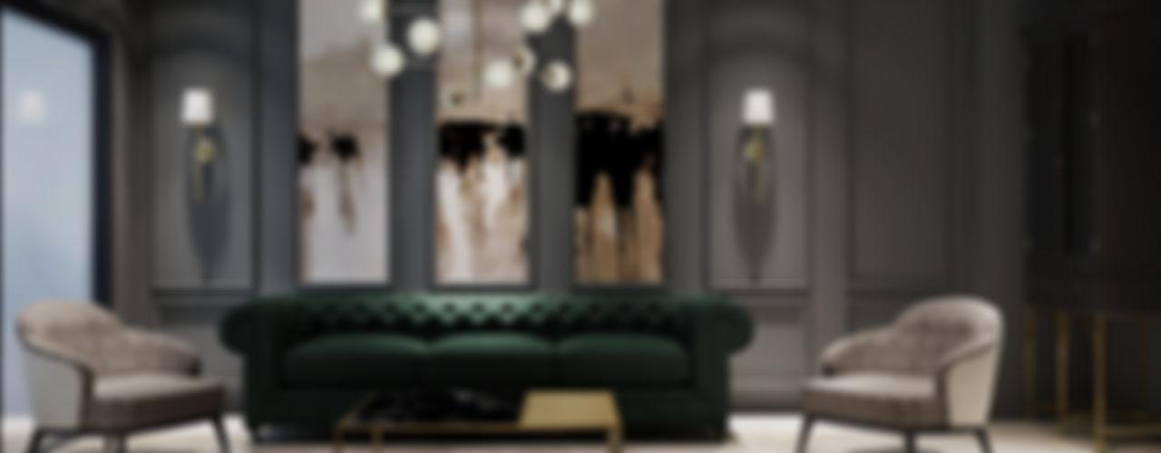 Timuçin Bey Villa İç Mimar Özge Önder Güngör Modern Oturma Odası