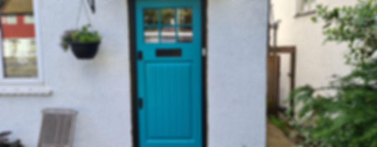 Doors portfolio Repair A Sash Ltd Front doors Engineered Wood Turquoise